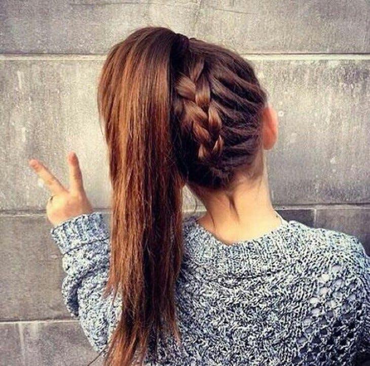 De 5 Peinados Con Trenzas - Peinados-con-trenzas-a-un-lado