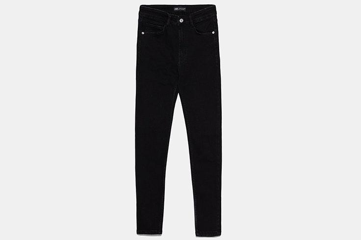 pantalones vaqueros negros pitillo nueva colección primavera 2020 zara